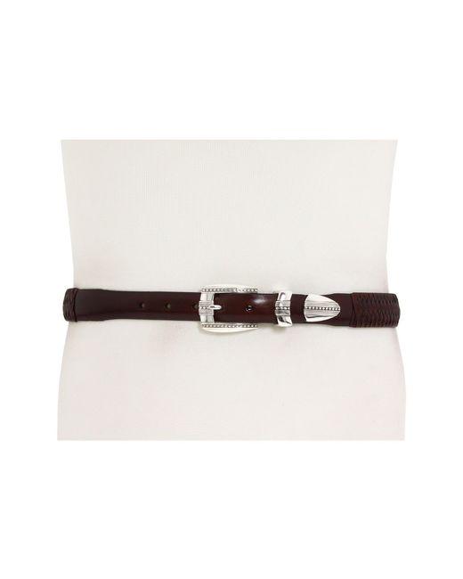 "Brighton - Brown 1-1/4"" - 1"" Eastwood Ornament Taper Belt for Men - Lyst"