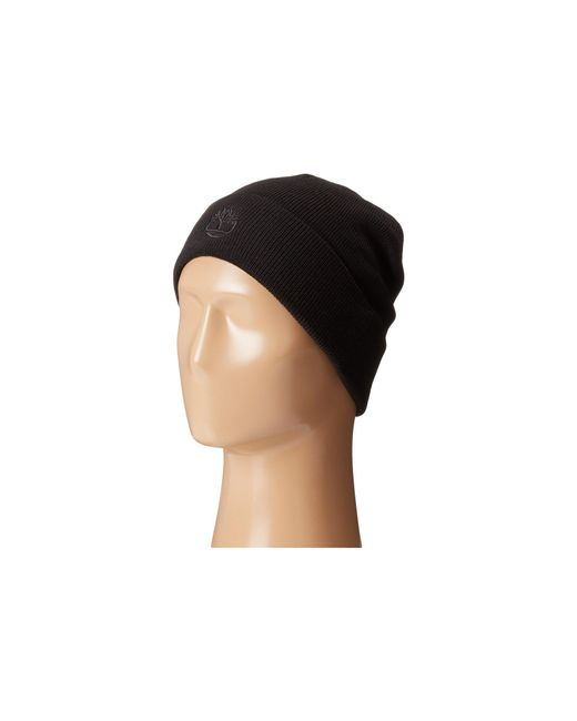 Timberland | Black Th340037 Solid Knit Watch Cap for Men | Lyst