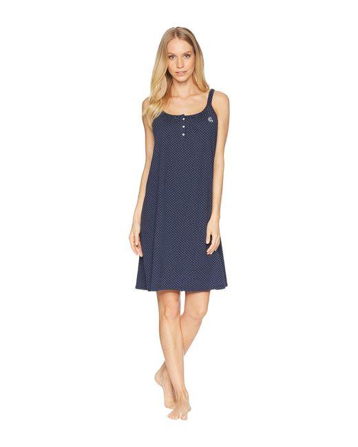 Lauren by Ralph Lauren - Blue Double Strap Gown - Lyst