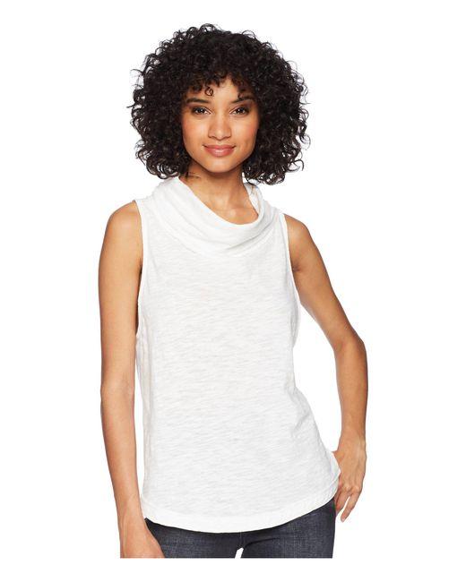 Free People - White Summer Thing Tank Top (black) Women's Sleeveless - Lyst