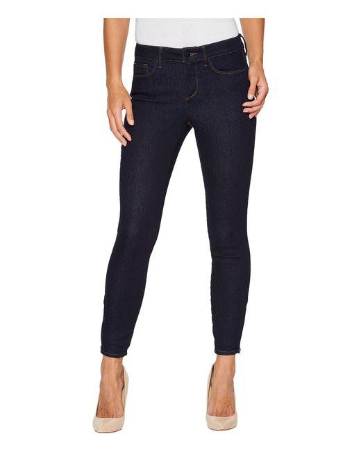 NYDJ - Blue Dylan Skinny Ankle W/ Zipper Hem In Rinse (rinse) Women's Jeans - Lyst