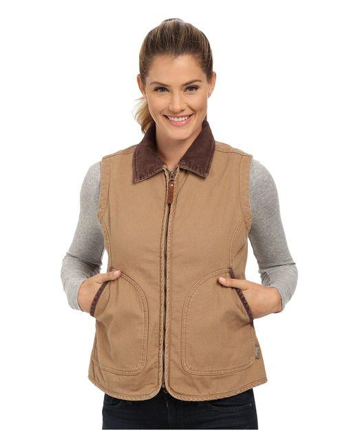 Woolrich   Brown Dorrington Vest   Lyst