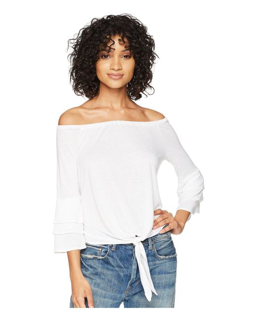 Amuse Society - Bonjour Summer Knit Top (white) Women's Clothing - Lyst