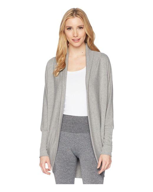 Jockey Active - Gray Cocoon Wrap (oatmeal) Women's Sweater - Lyst