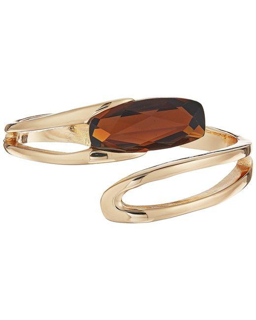 Robert Lee Morris - Metallic Topaz And Gold Bypass Bracelet - Lyst
