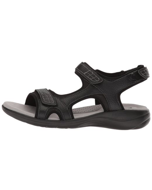 810641e4ea4 Lyst - Clarks Saylie Jade (black Tumbled Leather) Women s Sandals in ...