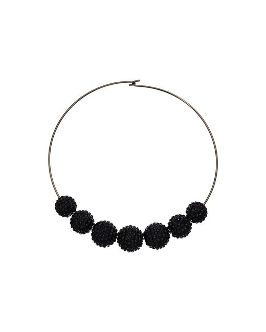 Kenneth Jay Lane - Multicolor Gunmetal Wire Jet Pave Bead Necklace - Lyst