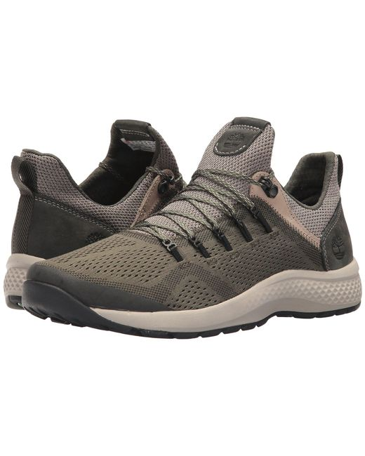 Timberland - Green Flyroam Trail Low (black/burgundy Fabric) Men's Lace Up Casual Shoes for Men - Lyst