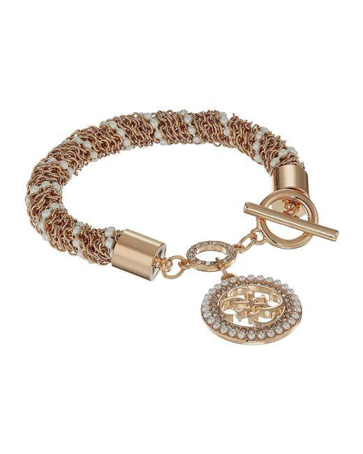 Guess - Metallic S Toggle Line Bracelet W/stones - Lyst