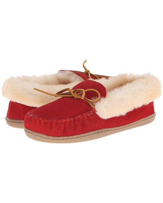 Minnetonka   Red Alpine Sheepskin Moc   Lyst
