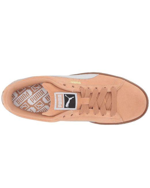 d4cc0c2b9c94 Lyst - PUMA Suede Classic (peach Bud marshmallow) Women s Shoes in White