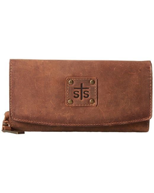 STS Ranchwear - Brown The Baroness Tri-fold Wallet - Lyst