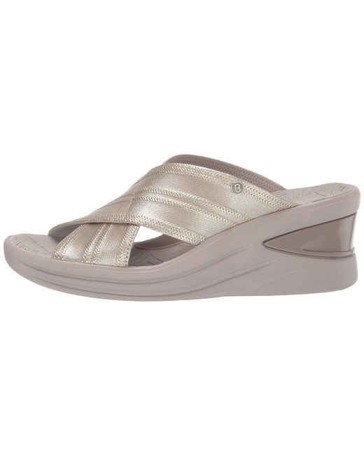 9e5fc474af6d Lyst - Bzees Vista (light Gold Metallic Fabric) Women s Sandals in ...