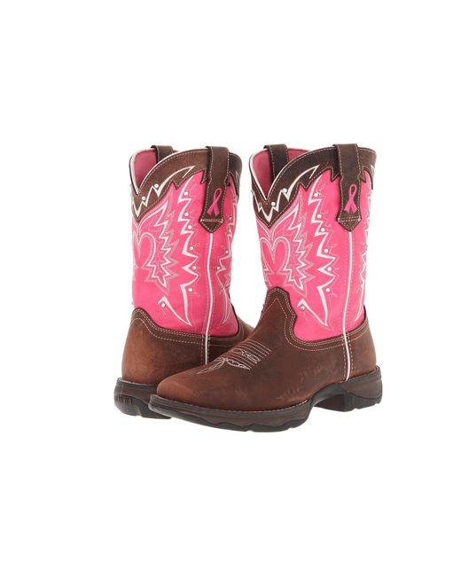Durango - 10 Stefanie Spielman Bca Boot (dark Brown/pink) Women's Boots - Lyst