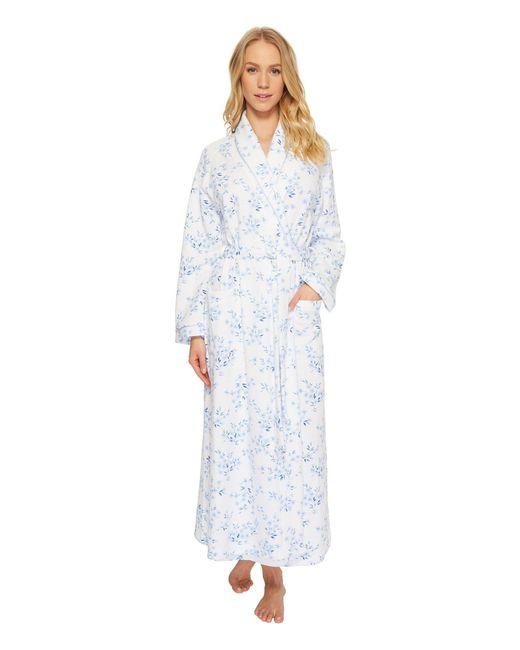 Carole Hochman - Blue Double Diamond Quilt Long Robe (floral Twin) Women's Pajama - Lyst