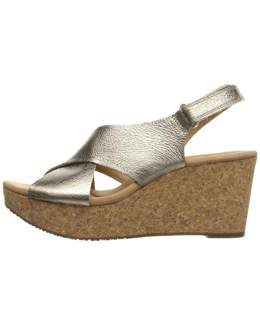 cb1ef1d112a1 Lyst - Clarks Annadel Eirwyn (black Nubuck) Women s Sandals in Metallic