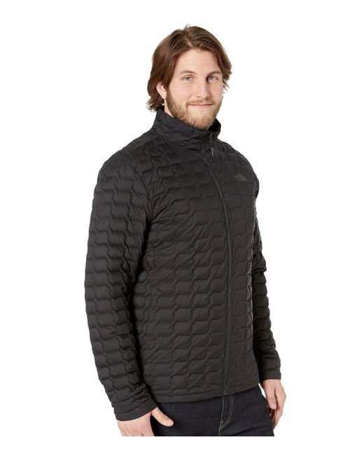 ddbd1e9801 ... The North Face - Black Thermoball Jacket - Tall (urban Navy Matte mid  Grey ...