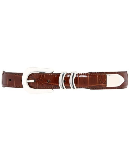 Brighton - Brown Catera Croco Taper Belt for Men - Lyst