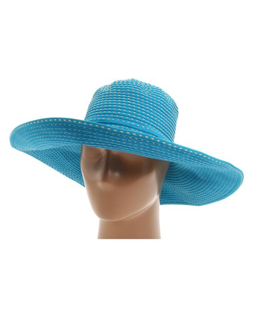 San Diego Hat Company - Blue Rbl205 Ribbon Crusher Hat With Ticking Sun Hat (fuchsia) Traditional Hats - Lyst