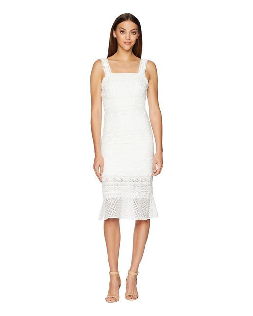Nicole Miller - White Trumpet Dress (ivory) Women's Dress - Lyst