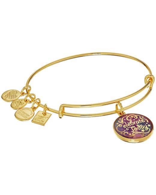 ALEX AND ANI - Metallic Charity By Design Celebrate Today - American Cancer Society Bracelet (shiny Silver Finish) Bracelet - Lyst