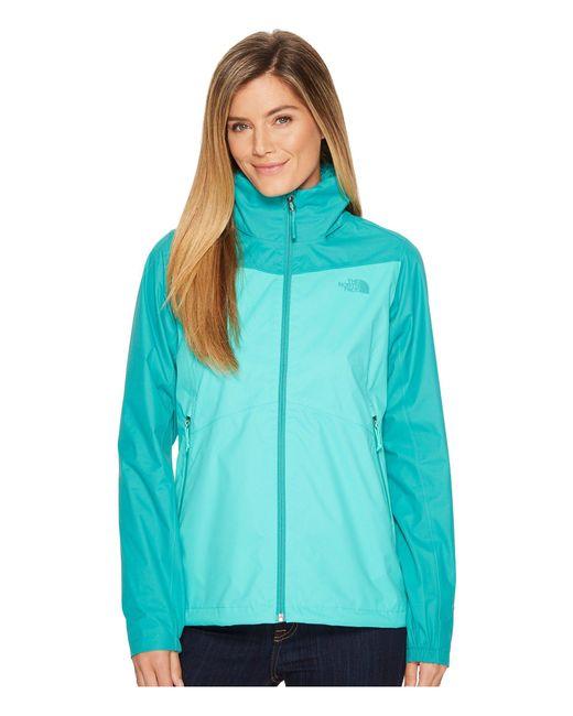 The North Face - Green Resolve Plus Jacket (vanadis Grey/atomic Pink) Women's Coat - Lyst