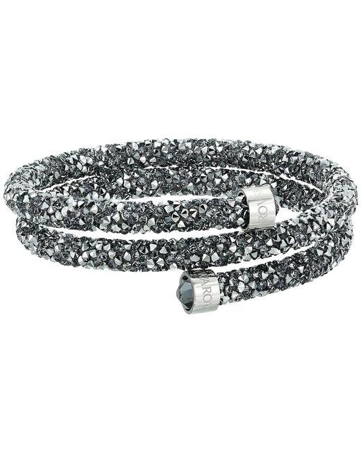 Swarovski - Gray Crystaldust Bangle Bracelet (grey) Bracelet - Lyst