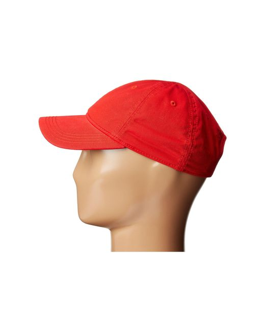 6abcbc0cd2b ... Lacoste - Red Croc Gabardine Cotton Cap (green) Caps for Men - Lyst ...