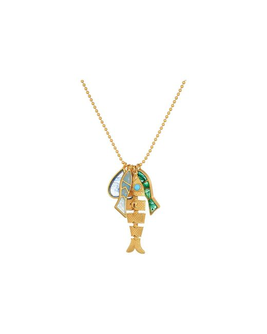 Tory Burch   Multicolor Fish Charm Necklace   Lyst
