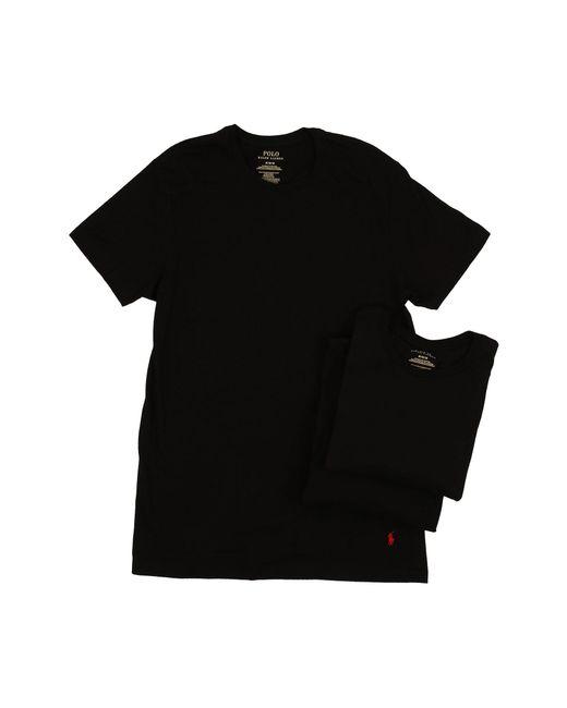 Polo Ralph Lauren - Black 3-pack Crew T-shirt for Men - Lyst