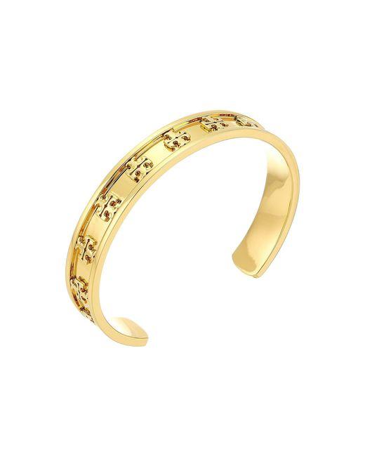 Tory Burch - Metallic Raised Logo Cuff Bracelet (tory Silver) Bracelet - Lyst
