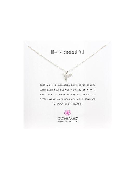 Dogeared - Metallic Life Is Beautiful Hummingbird Reminder (silver) Necklace - Lyst