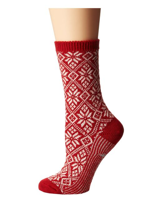 Smartwool - Red Traditional Snowflake (lochness Heather) Women's Crew Cut Socks Shoes - Lyst