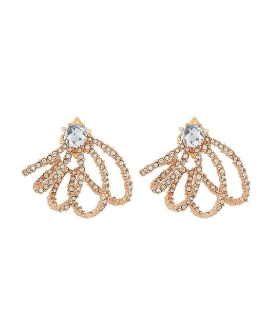 Alexis Bittar - Metallic Crystal Lace Orbiting Post Earrings (rose Gold) Earring - Lyst