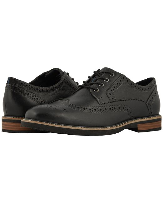 Nunn Bush - Oakdale Wingtip Oxford With Kore Walking Comfort Technology (black Tumbled) Men's Lace Up Wing Tip Shoes for Men - Lyst