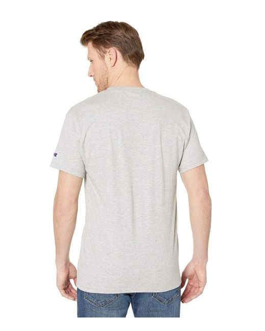 39cb41f8 ... Champion - Gray Classic Jersey Graphic Tee (black) Men's T Shirt for Men  ...
