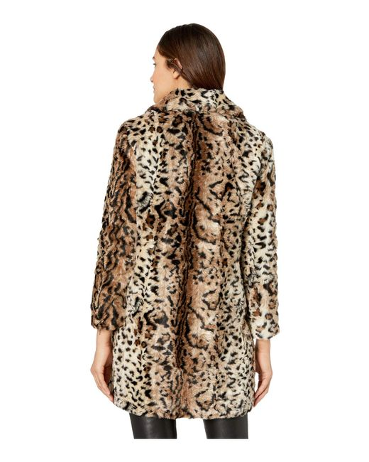 a1ada83d2cad3 Lyst - BB Dakota Bradshaw Leopard Faux Fur Coat (brown) Women s Coat ...