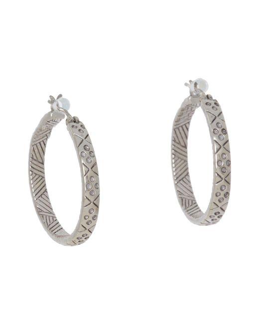 The Sak - Metallic Etched Hoop Earrings (silver) Earring - Lyst