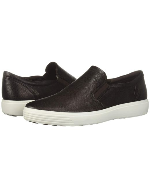 Ecco - Soft 7 Casual Loafer (black Cow Leather) Men s Slip On Shoes for ... 60a4b7b44b1c