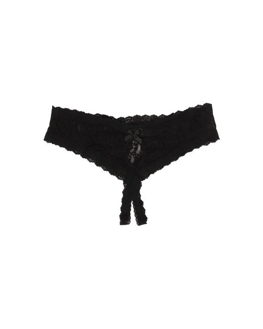 d09cb8083 ... Hanky Panky - Plus Size Signature Lace Crotchless Cheeky Hipster (black)  Women s Underwear -
