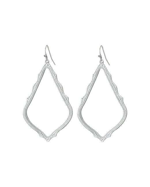 Kendra Scott - Metallic Sophee Earring (rhodium Metal) Earring - Lyst