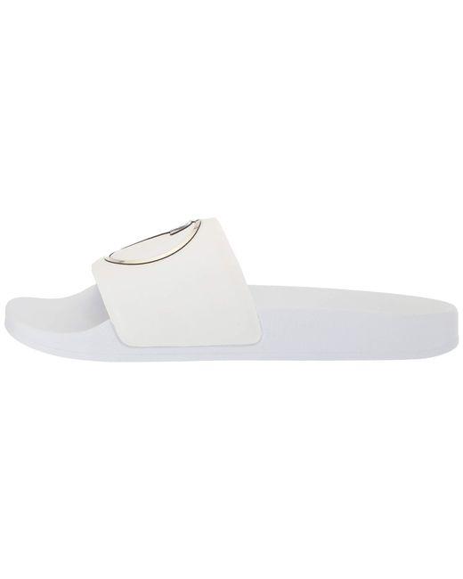 4c1ca33c0d5 ... Versace - Medusa Pool Slide (white light Gold white) Men s Sandals for  ...