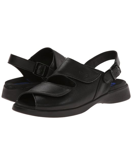 Wolky - Nimes (black Smooth) Women's Sandals - Lyst