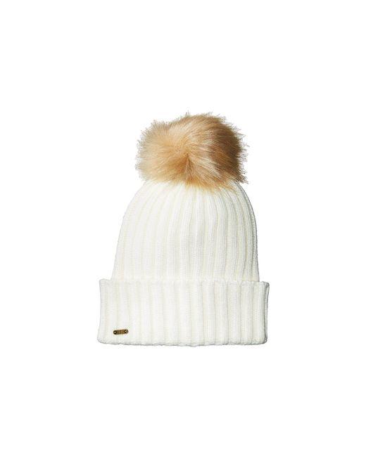 San Diego Hat Company - White Knh3476 Beanie With Pom Pom (black) Beanies - Lyst
