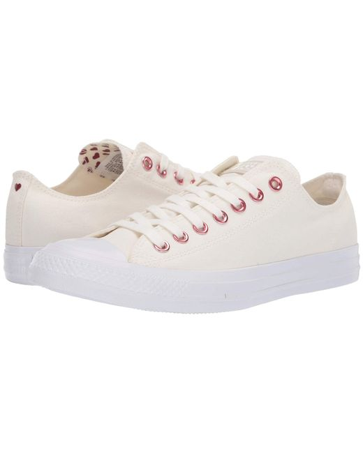 Converse - Chuck Taylor(r) All Star(r) Hearts Ox (egret/thubarb/white) Athletic Shoes - Lyst