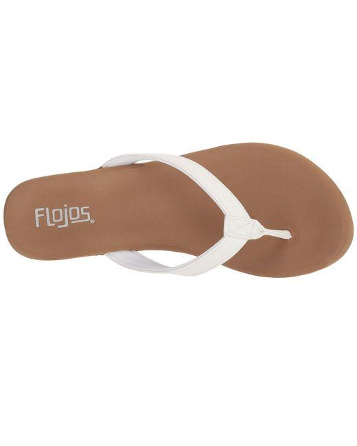 831eb2cbcf5 Lyst - Flojos Olivia (black) Women s Sandals in White
