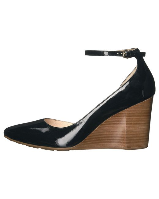 2bf5b59ec1 ... Cole Haan - Lacey Ankle Strap Wedge 85mm (black Patent) Women's Wedge  Shoes ...
