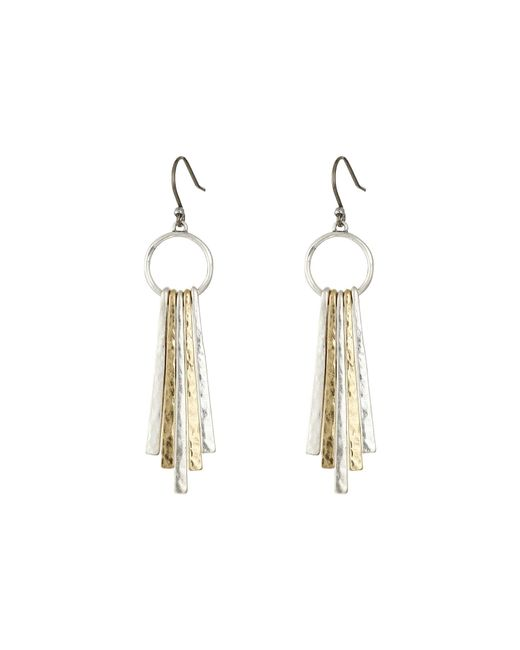 Lucky Brand - Multicolor Metal Paddle Earring - Lyst