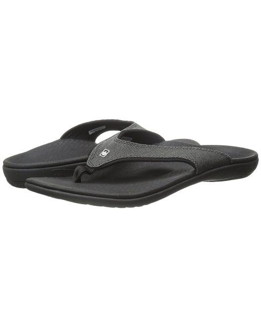 Spenco - Yumi Canvas (black) Women's Toe Open Shoes - Lyst