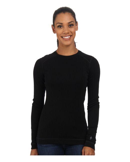 Smartwool - Black Nts Mid 250 Crew Top (moonbeam Heather) Women's Long Sleeve Pullover - Lyst
